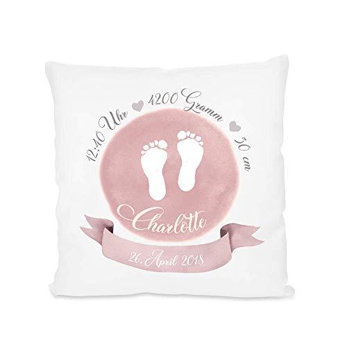 Kissen zur Geburt - Baby-Geschenk mit Namen und Geburtsdaten