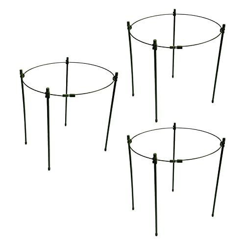 3 soportes ajustables para plantas de jardín, sistema de soporte para plantas de jardín, soporte telescópico, soporte para garras de cangrejo, soporte ajustable