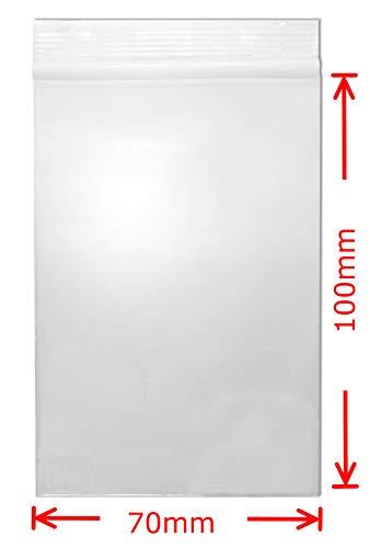 WeltiesSmartTools Staffel Druckverschlussbeutel 70 x 100mm 50µ transparent lebensmittelecht (1000 Stück - 70 x 100 mm 50µ (0,05mm), transparent)
