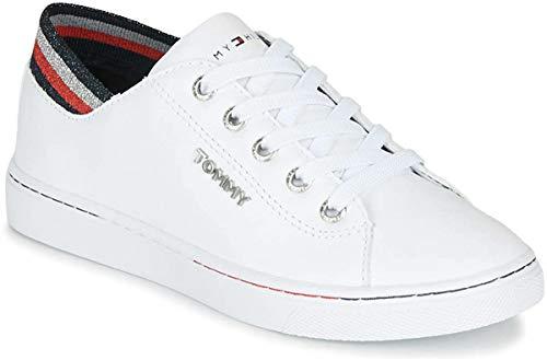 Tommy Hilfiger Damen Glitter Detail City Sneaker, Weiß (White Ybs), 39 EU