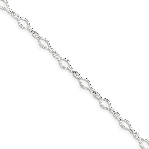925 Sterling Silver 9 Inch Solid Link Anklet Ankle Beach Chain Bracelet Fine Jewelry For Women Gifts For Her
