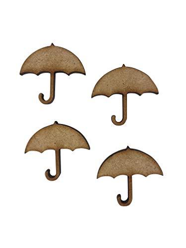 16x paraplu Brolly 3cm hout ambachtelijke reliëfs laser gesneden vorm MDF