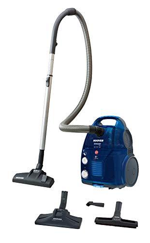 Hoover Sensory EVO SO50PAR, Aspirateur SAC ou SANS SAC, système dual, tapis, sols durs, brosse parquet, capacité 3,2 L/1,5 L, 72 dB, 550 W, couleur bleu, 3,2 litres, 72 décibels