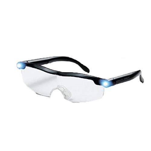 Zidao Lupen Mit LED-Licht, LED Big Zoom Vision Lupen Brillen Tolle Brillen Für Leser Frauen Männer Kinder Mighty Lupenbrille Als Lesehilfe Und Sehhilfe,1