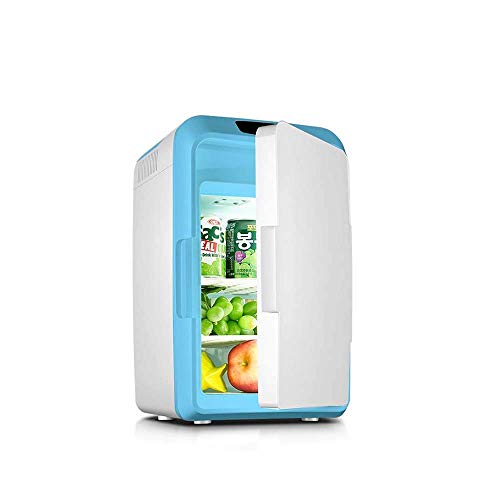 FACAZ Mini refrigerador de Coche de 12 l, refrigerador silencioso eléctrico portátil, Calentador de Caja, congelador, Viaje de Picnic al Aire Libre [A ++] 12L azul-25 * 25 * 41