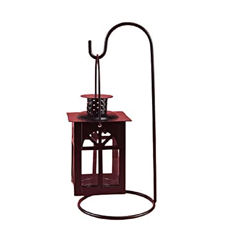 Laoonl - Portacandele in ferro battuto, stile retrò, con gancio per candela, antivento, per tavolo, matrimonio, festa, decorazione per camera da letto