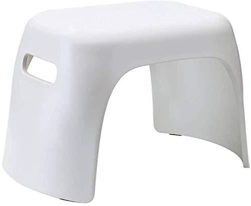Douchestoel stapelbare plastic kleine voet kruk, kinderen stap kruk verandering schoenen kleine stoel anti-slip voetbank kunststof voor kinderen keuken woonkamer badkamer, wit