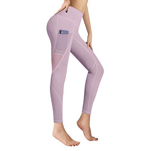 RaMokey Leggings Mujer Mallas de Deporte de Mujer Cintura Alta con Bolsillos Pantalon Deportivo para Running Training Estiramiento Yoga y Pilates