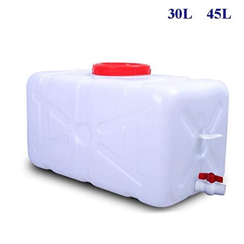Guoda Wasserkanister  HDPE-Material In Lebensmittelqualität   Mit Wasserventil   Tragbar   Zuhause, Außenbereich   Weiß (Size : 45L)