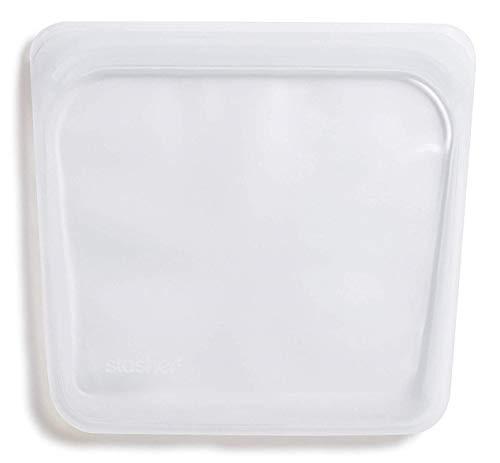Stasher 917 Bolsa reutilizable para aperitivos platino de grado alimenticio, para comer, proteger dispositivos electr/ónicos, organizar, viajar, 11,45 cm x 19,05 cm, silicona, color menta