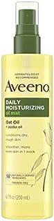 Aveeno Daily Moisturizing Dry Body Oil Mist with Oat and Jojoba Oil for Dry, Rough Sensitive Skin, Nourishing & Hypoallergenic Body Spray, Paraben-, Silicone- & Phthalate-Free, 6.7 fl. oz