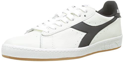 Diadora Game L Low, Sneaker Unisex Adulto, Bianco (BCO/Nero/Grigio Pulviscolo C7916), 44 EU