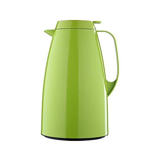 Emsa 508365 Isolierkanne, Thermoskanne, 1,5l Füllvolumen, Kaffeekanne, Quick Tip Verschluss, Basic in hellgrün