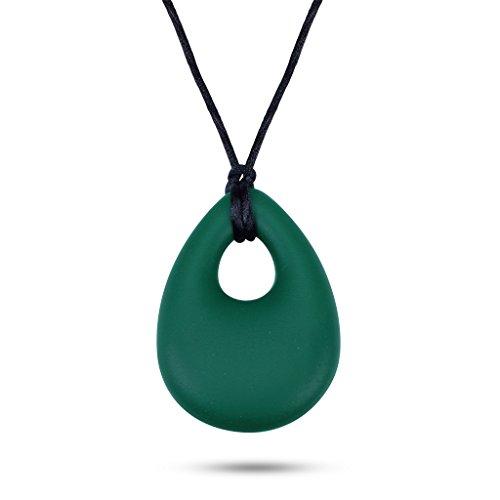 Edealing Silikon-Anhänger Baby-Kind Zahnen Stillen Chewable Halskette (Grün)
