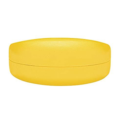 Molshine Funda rígida para gafas de sol, funda clásica extra grande para gafas de sol y lentes de gran tamaño, Lemon Yellow, Large