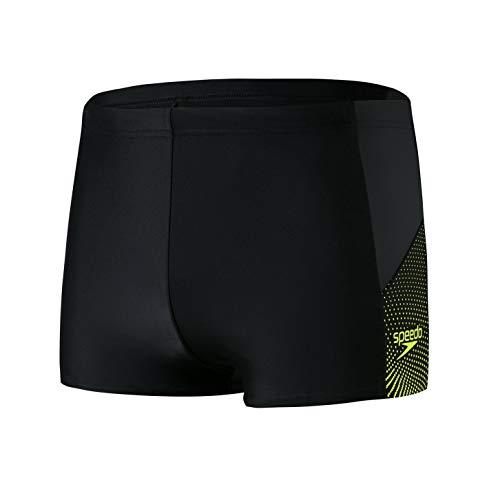 Speedo Dive Aquashort Am Bañador, Hombre, Black/Oxid Grey/Fluo Yellow, 42