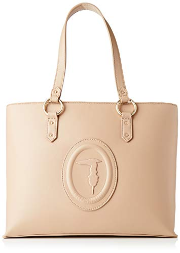 Trussardi Jeans Shopping, LISBONA Shopper MD Smooth ECOL Donna, Sand, NR