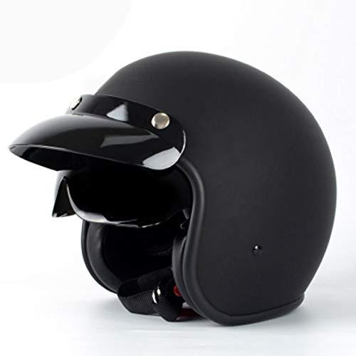 GAOZHE Casco de Motos,Unisexo Casco Moto Integral para Patinete Electrico Motocicleta Mujer y Hombre,Súper Ligero Clásico Cascos Half-Helmet Protección de Seguridad-Certifié Dot-Material ABS
