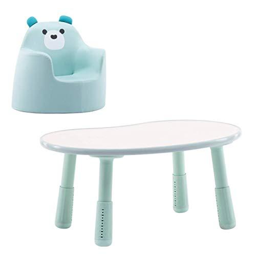 NSYNSY Kinder Schreibtisch Kleinkinder Studiertisch und Stuhl Höhenverstellbarer Kunststoff Cartoon Tisch und ergonomisches Sofa Kinder Tisch und Stuhl Set für Jungen und Mädchen