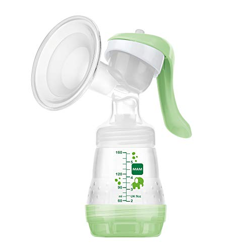 MAM Manual Breast Pump, Soft Silicone Breast Pump with 'One Size Fits All' Funnel, Baby Feeding, Newborn Essentials, (Designs May Vary)