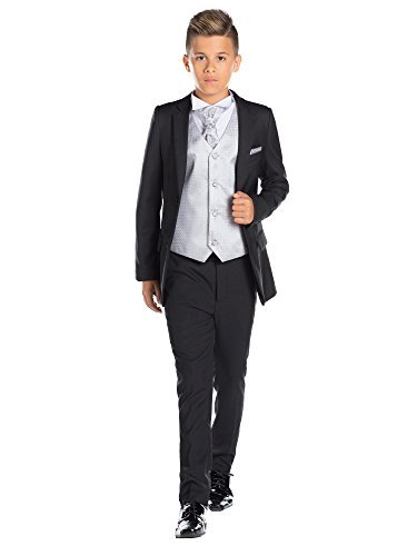 Paisley OF LONDON, Niños Negro Traje, ajustado traje, Página Niño Traje , Graduación Traje, 12-18 meses-13 años