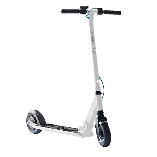 """SmartGyro Xtreme XD Patín eléctrico para niños y jóvenes, ruedas 8"""", 3 velocidades, plegable, ligero, autonomía de 18 Km, batería de litio, freno eléctrico, Scooter, luces traseras, Blanco"""