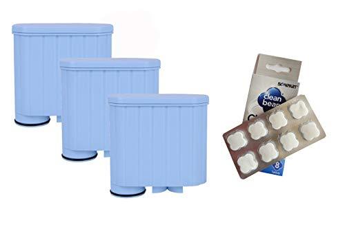 3 x Wasserfilter für Saeco Xelsis Incanto Intelia Exprelia Pico Gran Baristo + Reinigungstabs