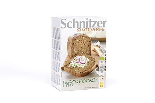 Schnitzer - Black Forest + Teff - Glutenfreies Bio Maisbrot mit Kürbiskernen und Teff - 2 x 250 g in einer Packung