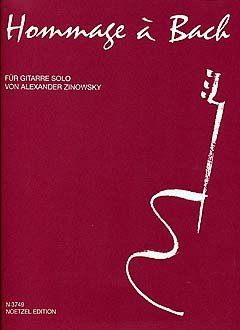 HOMMAGE A BACH - gearrangeerd voor gitaar [Noten / Sheetmusic] Component: ZINOWSKY ALEXANDER