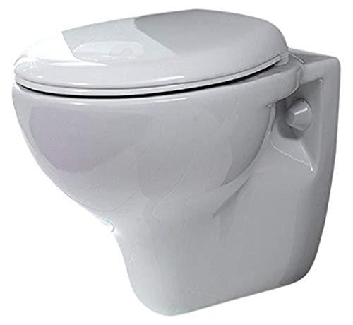 Cerastyle Lila Round Ceramic Wall Mount Toilet