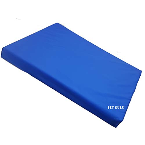 Waterproof Mattress For Dogs Cage Crate Mat Pet Dog Cat Bed Pad Washable Cover (SMALL, BLUE)