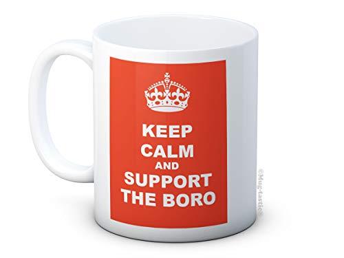 Keep Calm and Support The Boro - Middlesbrough FC Football Club - Ceramic Coffee Mug