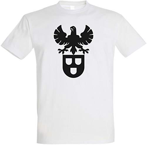 Herren T-Shirt Maler Zunftwappen S bis 5XL (Weiß, M)