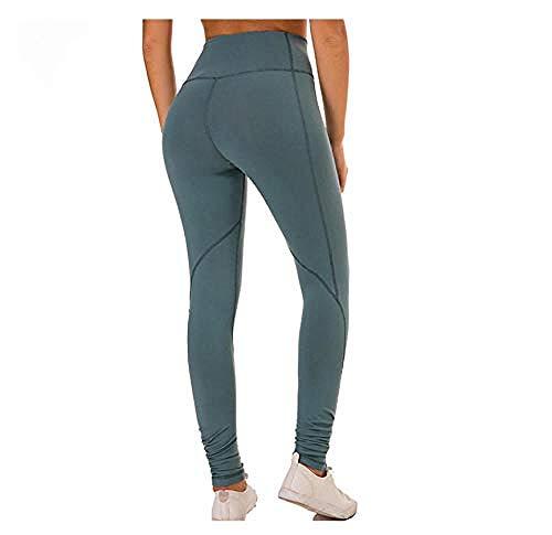 WANJ Leggings de Mujer Pantalones Deportivos Mujeres Cintura Alta Push up Leggings Ajustados Medias Deportivas Mujeres Fitness Yoga Jogging Gym Training Deportes Mujeres