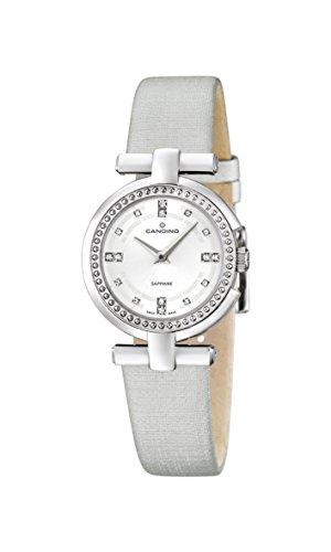Candino Reloj de Cuarzo para Mujer con Blanco Esfera analógica Pantalla y Correa de Piel Color Blanco C4560/1