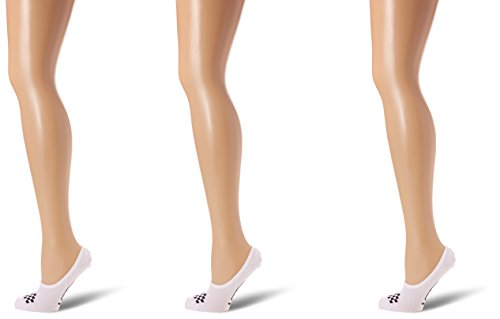 Vans Basic Canoodle 3 Pack Calcetines, Blanco (White/black), Talla única para Mujer