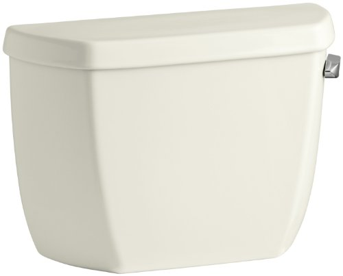 Kohler K-4436-RA-96 Wellworth Classic 1.28 gpf Toilet Tank with Class Five Flushing Technology and Right-Hand Trip Lever, Biscuit