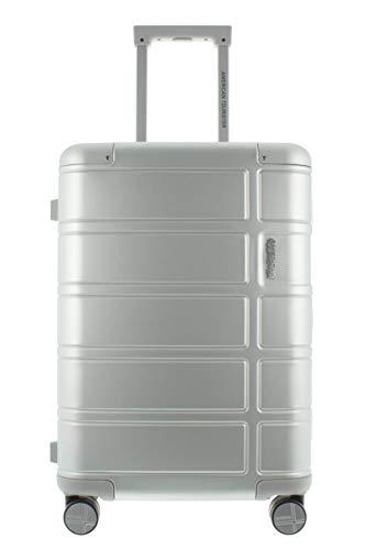 American Tourister Alumo 4-Rollen-Kabinentrolley S 55 cm silver