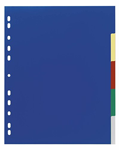 Durable, 673027, ordnermap, van PP, blanco/5-kleurig, voor A4, 5 vellen, pak van 25 5-delig überbreit