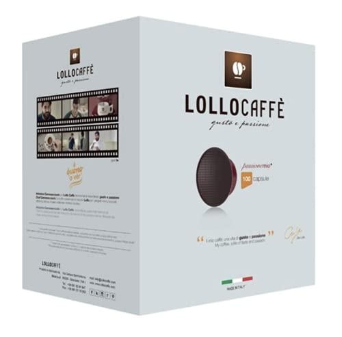 200 CIALDE CAPSULE LOLLO CAFFE' COMPATIBILI A MODO MIO MISCELA NERO ESPRESSO