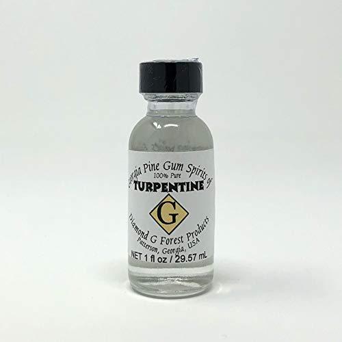 Esencia pura de trementina en botella de 30 ml, de Diamond G Forest