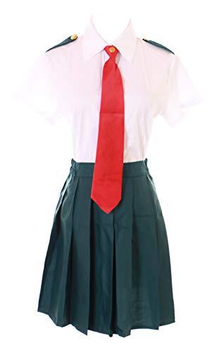 Kawaii-Story MN-97 Boku No My Hero Academia Schuluniform Tusyu Ochako Uraraka Fasching Kostüm Set Manga Anime Cosplay (M)