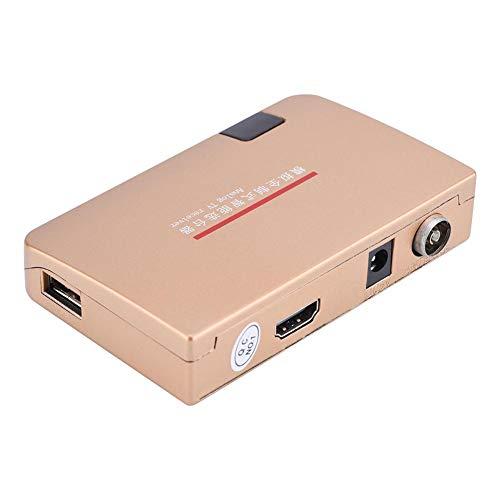 VBESTLIFE Analog TV Adapter für Analog-TV-Receiver mit HF HDMI Konverter (VDE) für alle Fernseher mit HDMI-Eingang,Geeignet für Projektoren,Multimedia-Unterricht,Netzwerktechnik.(EU)