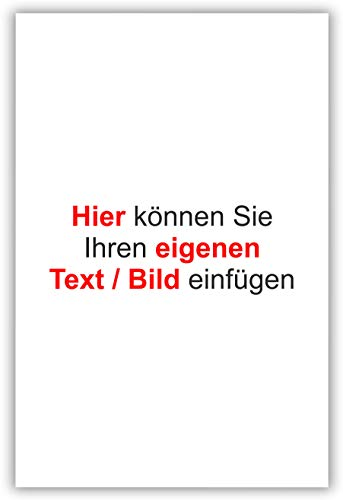 SCHILDER Himmel Wunschtext Schild, komplett anpassbar, hier Größe 42x29cm Alu-Verbund. Eigener Text/Wunschbild. Viele Größen und Materialien