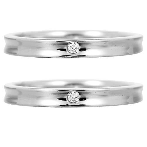 [ココカル]cococaru ペアリング 結婚指輪 K10ゴールド 2本セット マリッジリング ダイヤモンド 日本製(レディースサイズ2号 メンズサイズ10号)