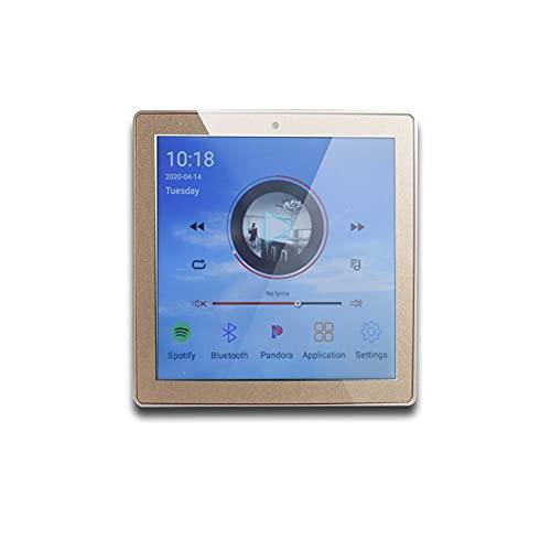JYDQB Pantalla táctil WiFi Audio Panel de Pared Amplificador Cine en casa Inteligente Cine Bluetooth Sistema de música inalámbrico USB (Color : B)