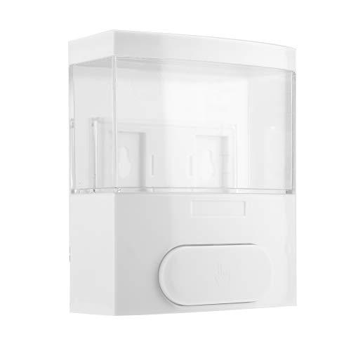 Fdit 300 ml Seifenspender aus Kunststoff zur Wandmontage für Seife, Lotion, Shampoo, Flüssigkeit, Shampoo, für Zuhause, Hotel weiß