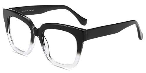 Firmoo Blue Light Blocking Glasses, Anti Eyestrain Reduce Headache, Hipster Computer Glasses,Non-prescription Bluelight Blocker Eyewear for Women/Men(Black-Clear Frame) Accessories Eyewear Frames Shops