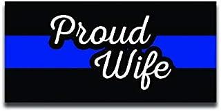 DHDM Designs Proud Police WifeThin Blue Line Vinyl Aufkleber, 14 cm, laminiert mit UV Schutzlaminat, PD2944, 2 Stück