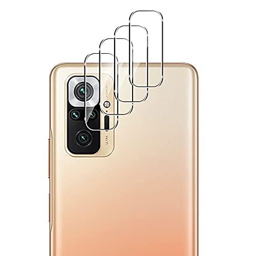 Aerku Cámara Trasera Lente Protector de Pantalla para Xiaomi Redmi Note 10 Pro 5G [4 Piezas],[Cobertura Completa] HD Sin Burbujas Cristal Templado Cámara Protector [Transparente]